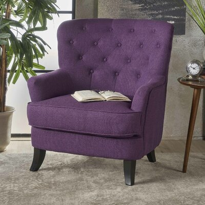 Amini Club Chair Upholstery: Purple
