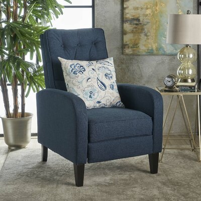 Apfel Manual Recliner Upholstery: Navy Blue