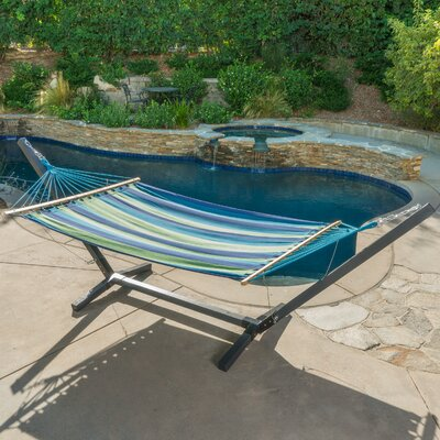 Danby Outdoor Hammock with Stand Color: Blue/Green/Teal