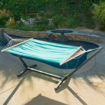 Danby Outdoor Hammock with Stand Color: Aqua/Blue