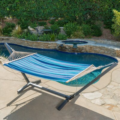 Danby Outdoor Hammock with Stand Color: Blue/Red/White