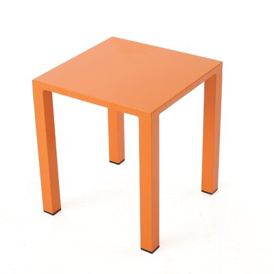 Fennia Outdoor Aluminum End Table Color: Orange