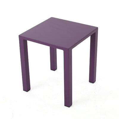 Fennia Outdoor Aluminum End Table Color: Purple