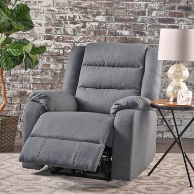 Taos Mesa Fabric Power Push Button Recliner Color: Charcoal