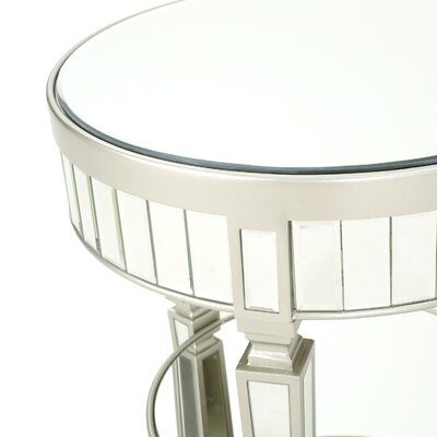 Lemmon Mirrored End Table