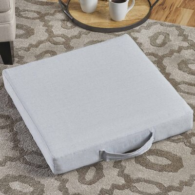 Garlan Linen Floor Pillow Color: Chambray