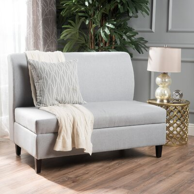 Telis Fabric Storage Loveseat Upholstery: Light Gray