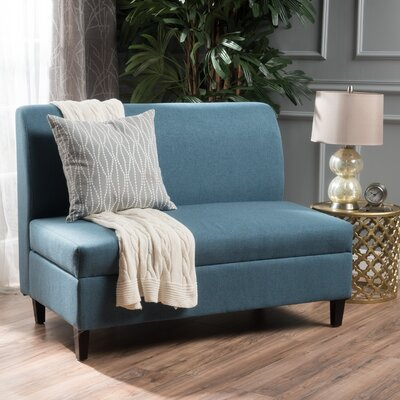 Telis Fabric Storage Loveseat Upholstery: Blue
