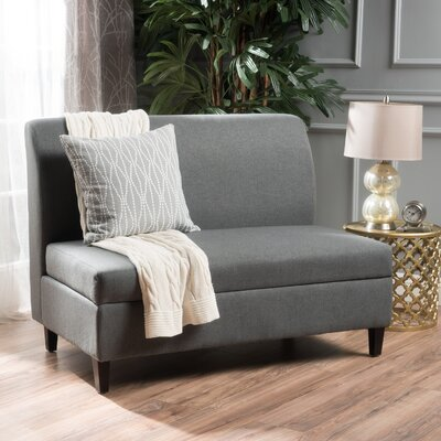 Telis Fabric Storage Loveseat Upholstery: Charcoal