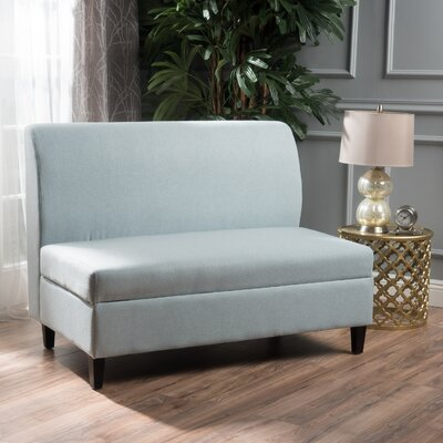 Telis Fabric Storage Loveseat Upholstery: Light Sky