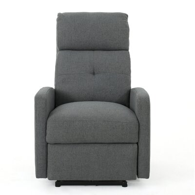 Yinka Power Recliner Upholstery: Charcoal