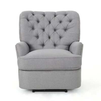 Prestbury Power Recliner Upholstery: Light Grey