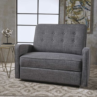Farthing Reclining Loveseat Upholstery: Grey