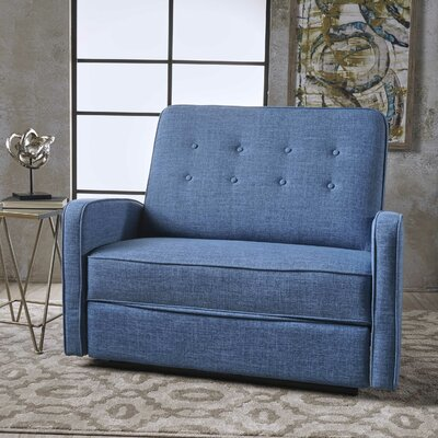 Farthing Reclining Loveseat Upholstery: Muted Blue