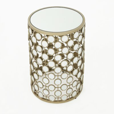 Shea Mirrored End Table