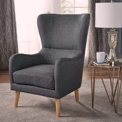 Preusser Wingback Chair Upholstery: Gray