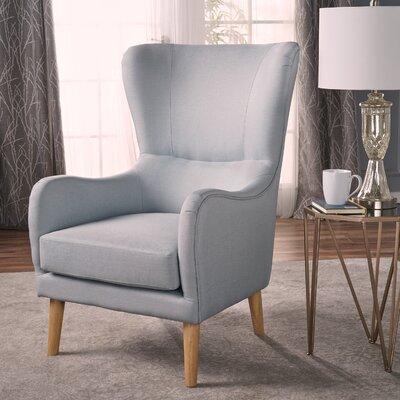 Preusser Wingback Chair Upholstery: Light Gray