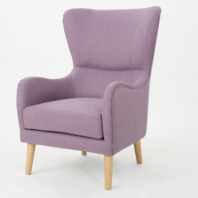 Preusser Wingback Chair Upholstery: Light Lavender