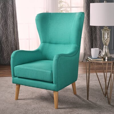 Preusser Wingback Chair Upholstery: Teal