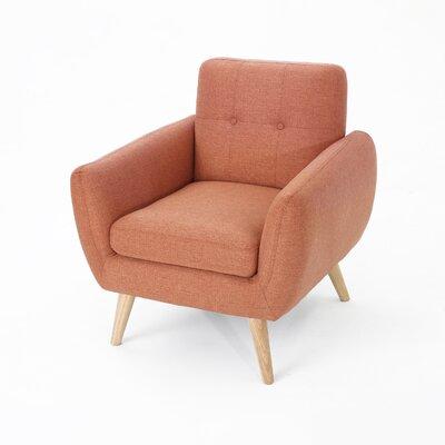 Erinn Armchair Upholstery: Burnt Orange