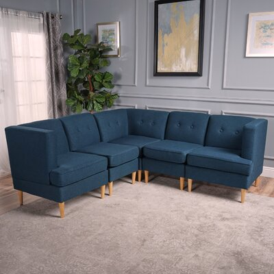 Farberware Reversible Modular Sectional Upholstery: Navy Blue