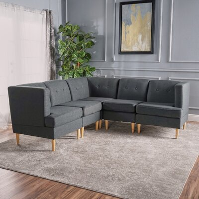 Farberware Reversible Modular Sectional Upholstery: Dark Gray