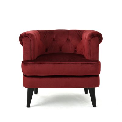 Alyshia Barrrel Chair Upholstery: Garnet