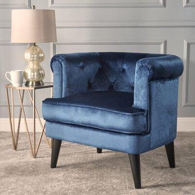 Alyshia Barrel Chair Upholstery: Cobalt