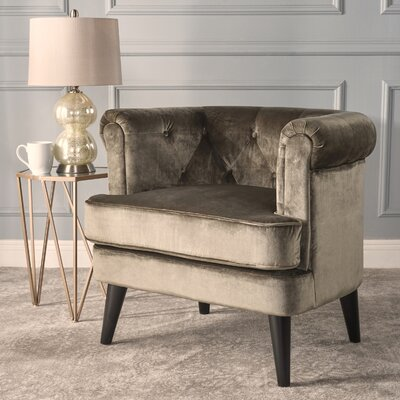 Alyshia Barrel Chair Upholstery: Gray