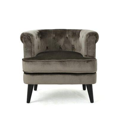 Alyshia Barrrel Chair Upholstery: Gray