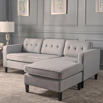 Farrand Reversible Modular Sectional Upholstery: Light Gray