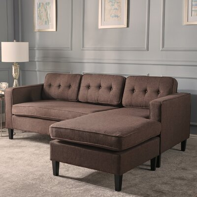 Farrand Reversible Modular Sectional Upholstery: Dark Brown