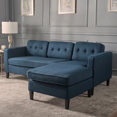 Farrand Reversible Modular Sectional Upholstery: Navy Blue