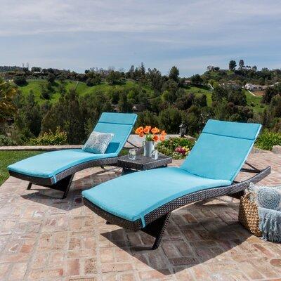 Rio Vista Chaise Lounge Set with Cushion Finish: Blue