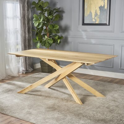 Salzmann Wood Dining Table Color: Ash Wood