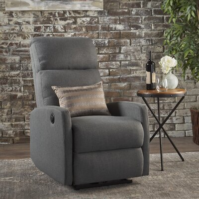 Deedee Power Recliner Color: Charcoal