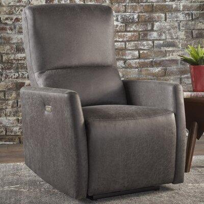 Hyler Power Recliner Upholstery: Slate Microfiber