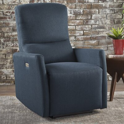 Hyler Power Recliner Upholstery: Navy Blue