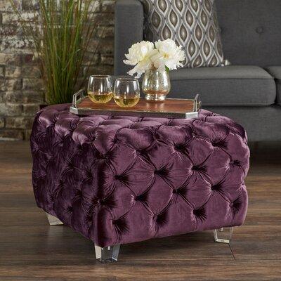 Finchley Cocktail Ottoman Upholstery: Raisin