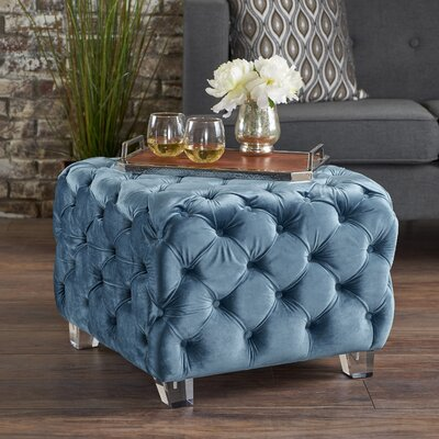 Finchley Cocktail Ottoman Upholstery: Aqua
