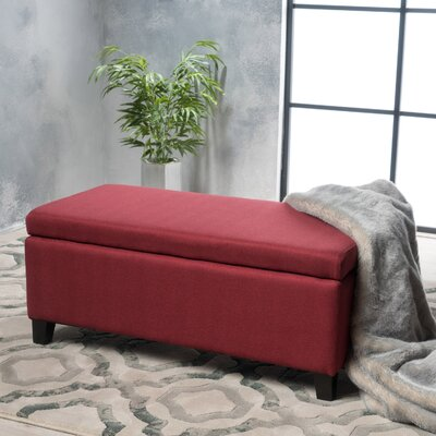 Connie Storage Ottoman Upholstery: Deep Red