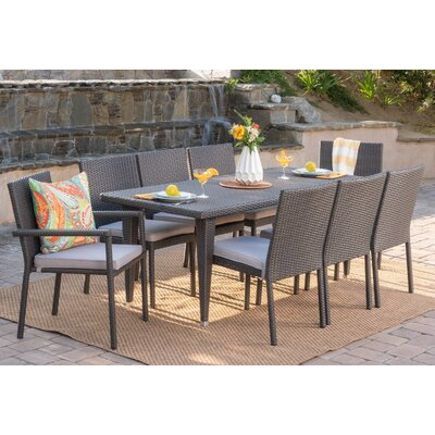 Schnell Wicker Dining Set Cushions 202 Item Photo