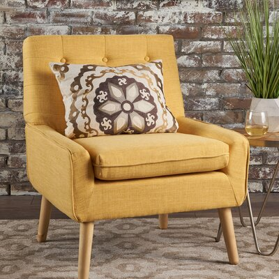 Vanleuven Fabric Side Chair Upholstery: Yellow