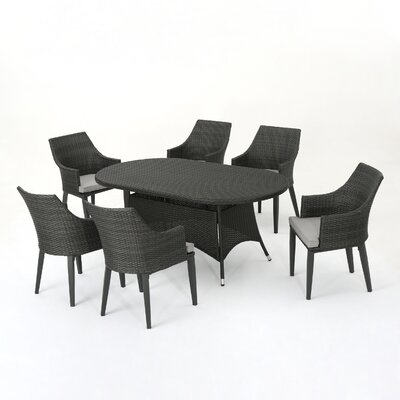Backlund Outdoor Wicker Round Dining Set Cushions 844 Item Photo