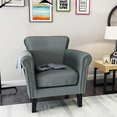 Hannon Armchair Upholstery: Steel Blue