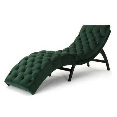 Rojo Chaise Lounge Upholstery: Emerald