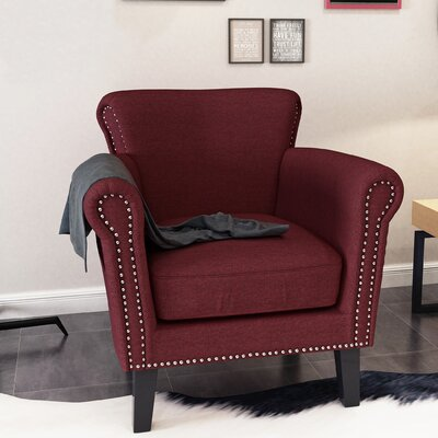 Hannon Armchair Upholstery: Wine