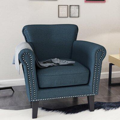 Hannon Armchair Upholstery: Navy Blue