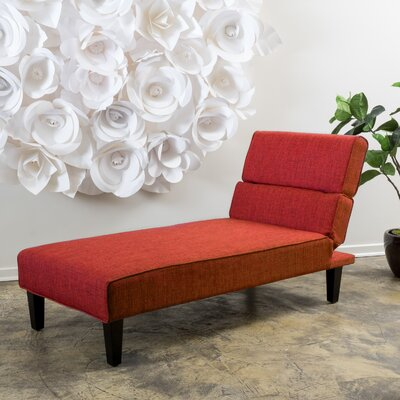 Joanne Chaise Lounge Upholstery Type: Polyester Blend - Red