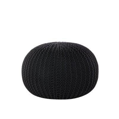 Conrad Pouf Upholstery color: Black